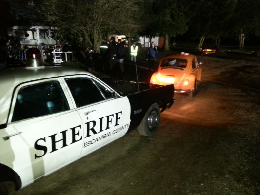 Sheriff Car on Set