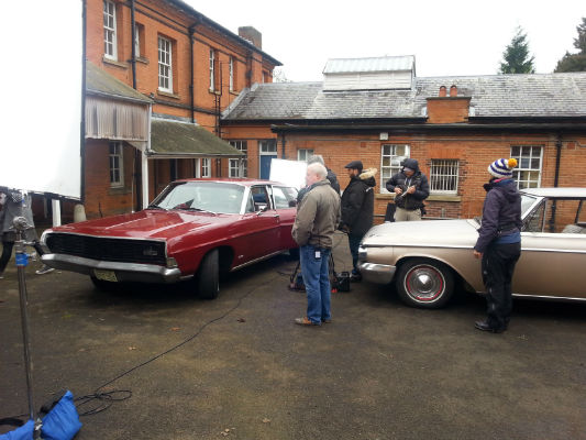 Ford and Mercury On Set